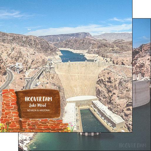 Hoover Dam Arizona/Nevada - 12x12 scrapbookpapier