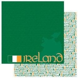Ierland Paspoort scrapbook papier 30.5 x 30.5 cm