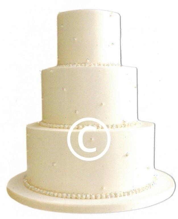 Huwelijkstaart - glitter - stans decoratie - 6x7.5