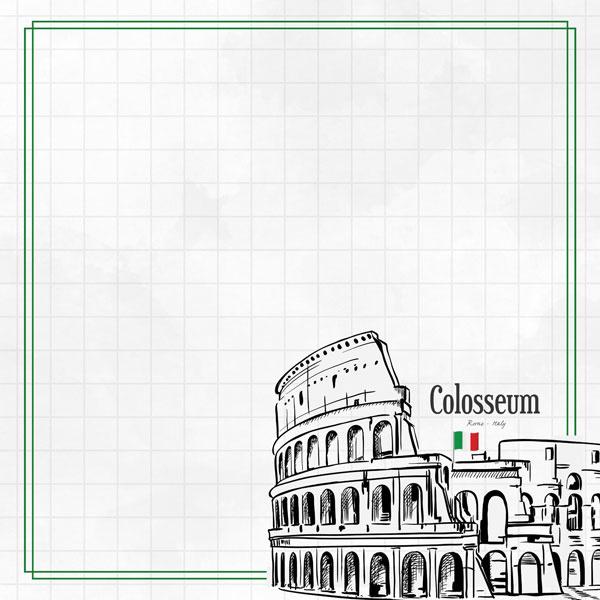 Colosseum Adventure  - dubbelzijdig scrapbook papier