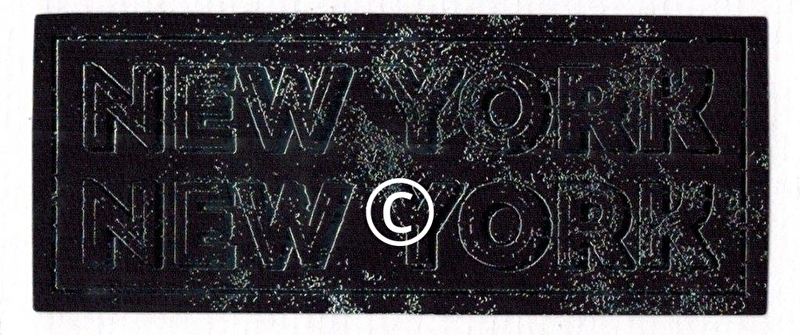 Bord New York New York  - stans decoratie - 9x3.5 cm