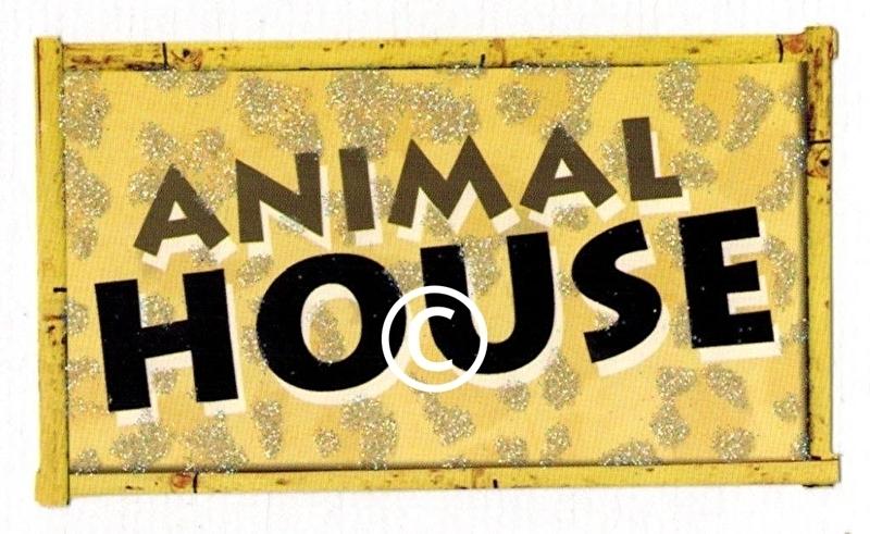 Animal House - glitter - stans decoratie - 4.5x8 cm