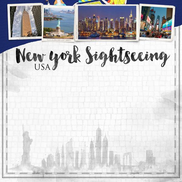 New York City Sights papier - 30.5 x 30.5 cm