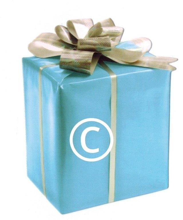 Blauwe kadodoos - stans decoratie - 6x8 cm