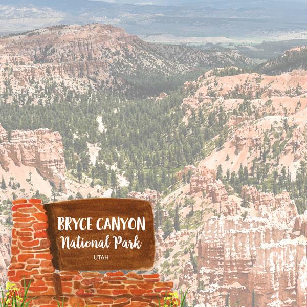 Bryce National Park / Utah - scrapbook customs - 12x12 inch