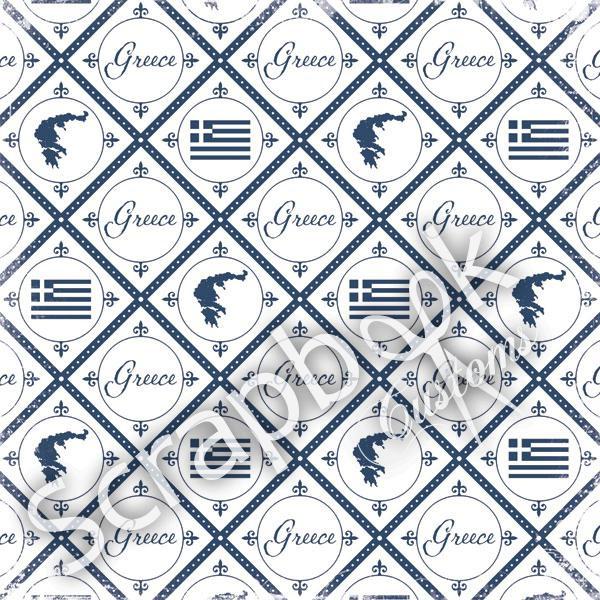 Greece - Discover - thema papier 30.5 x 30.5 cm