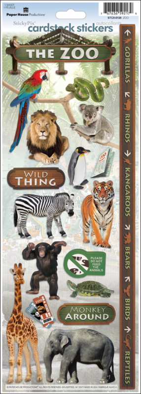 The Zoo - Cardstock Stickers