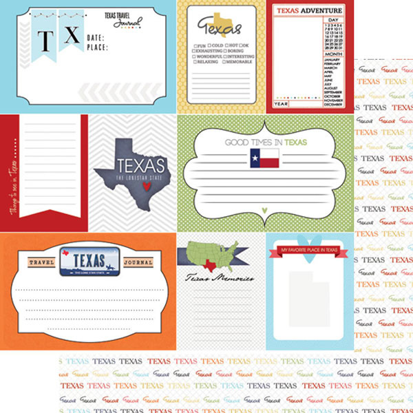 Texas - Journal - 12x12 scrapbookpapier