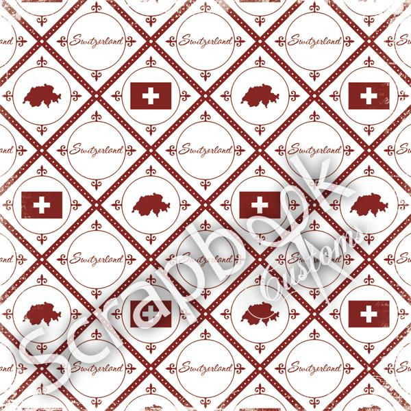 Switserland - Discover - thema papier - 30.5 x 30.5 cm