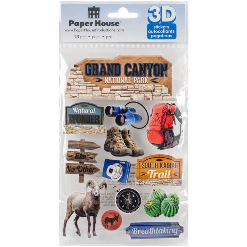 Grand Canyon - 3D pop up stickers