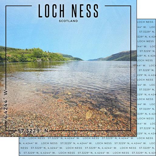 Loch Ness - Scotland - dubbelzijdig scrapbook papier