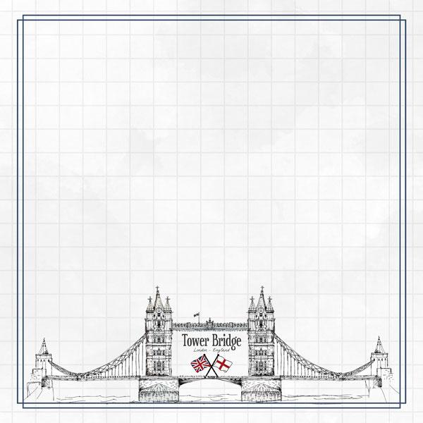 Tower Bridge Adventure  - dubbelzijdig scrapbook papier