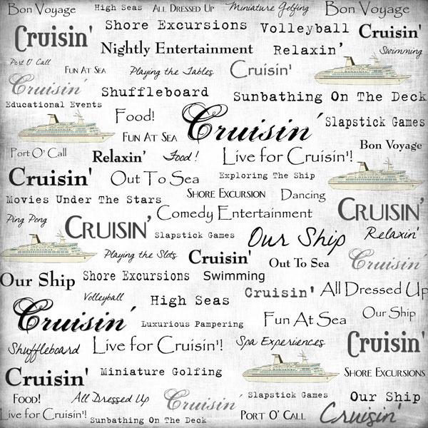 Live for Cruisin' - 30.5 x 30.5 cm scrappapier