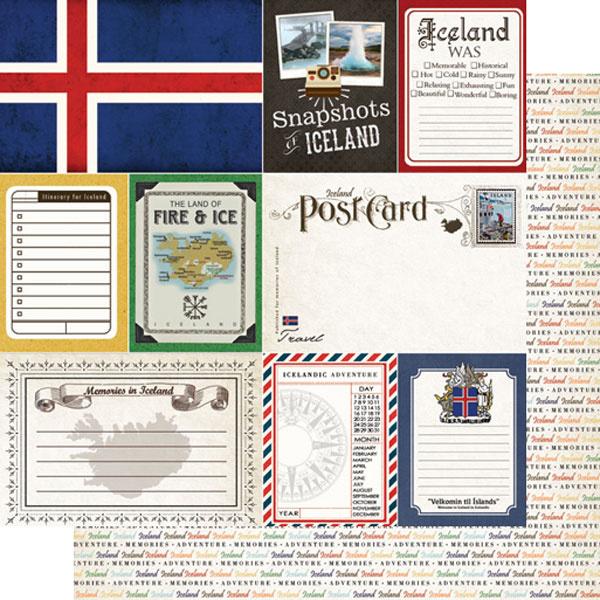 IJsland - Journal scrapbook papier - 30.5 x 30.5 cm