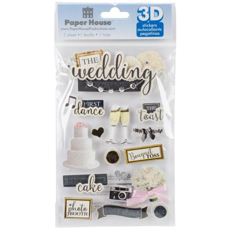 Paperhouse 3d sticker Wedding Reception