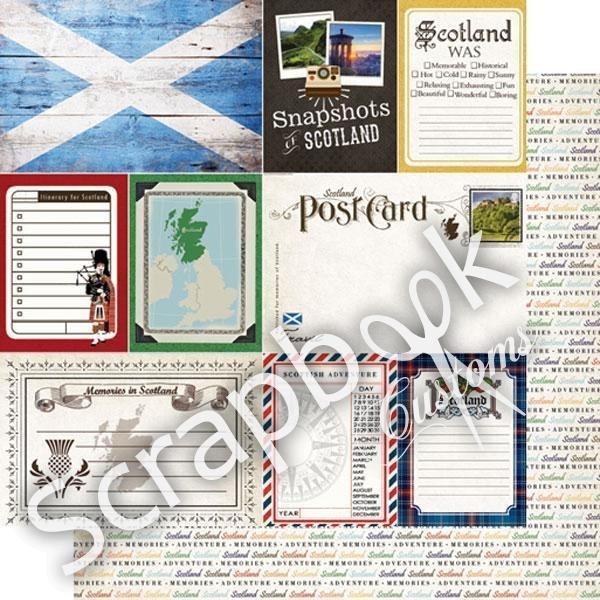 Scotland - DS Journal 12x12 - scrapbook papier