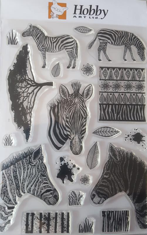 Zebra - A5 clear stempel set 15 x 20 cm