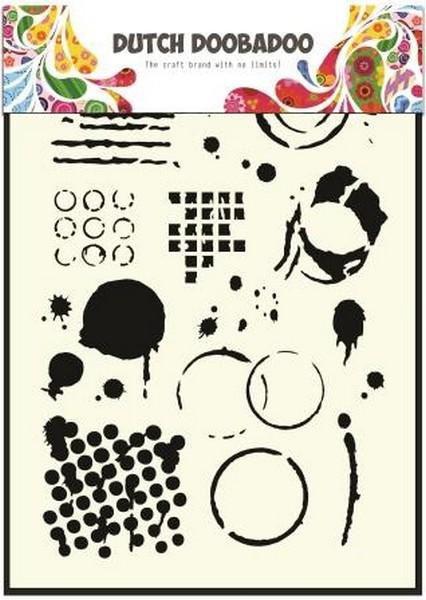 Stencil sjabloon Geometrische vormen A5 - Dutch Doobadoo