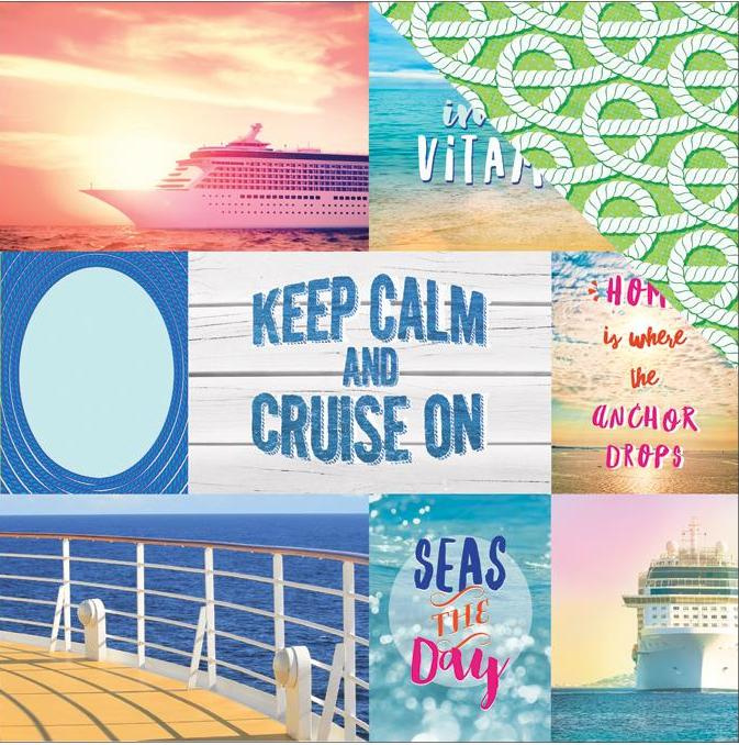 Keep calm and cruise on  30.5 x 30.5 cm scrappapier