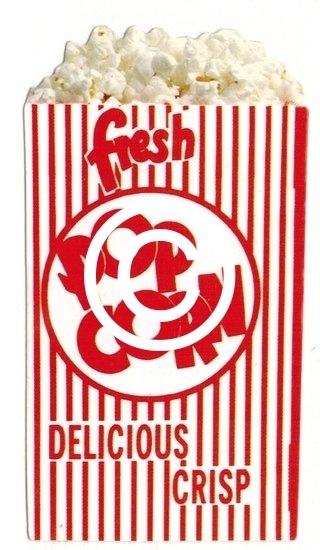 Popcorn - scrapbook decoratie - 5 x 8.5 cm
