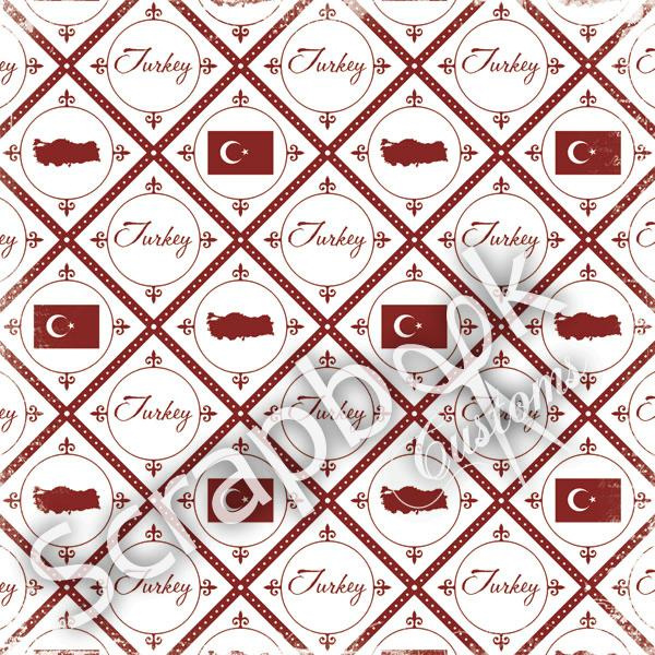 Turkije - Discover scrapbook papier 30.5 x 30.5 cm