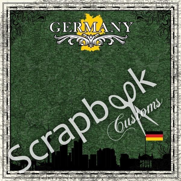 Duitsland sightseeing 30.5 x 30.5 cm papier