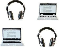 Laptop en koptelefoon decoratie - zakje 12 stuks