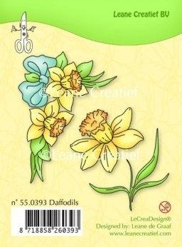 Voorjaars bloemen stempel  - narcissen