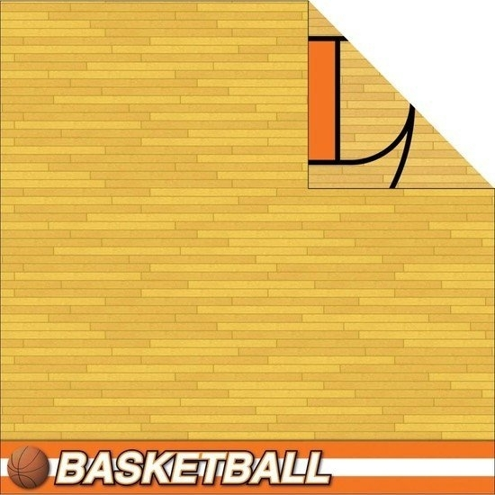Basketbal veld sporthal papier 30.5 x 30.5 cm