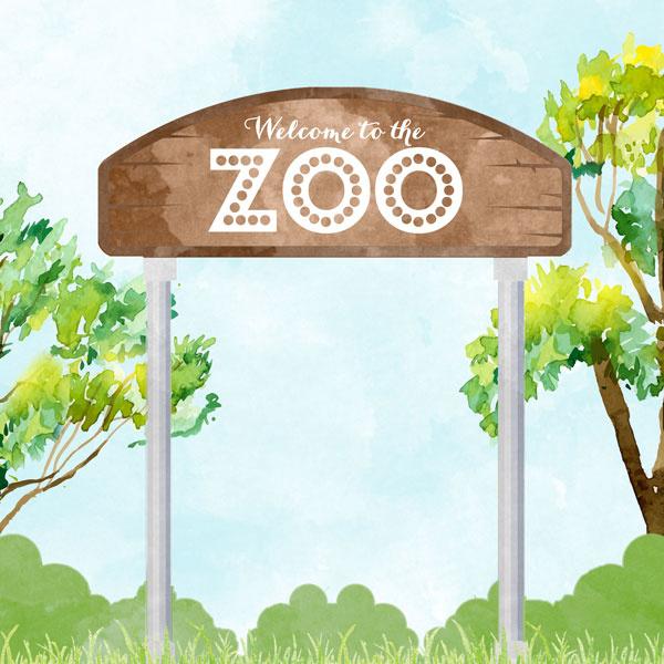 Welcome to the Zoo -  watercolor - 30.5x30.5 cm - dubbelzijdig scrapbookpapier