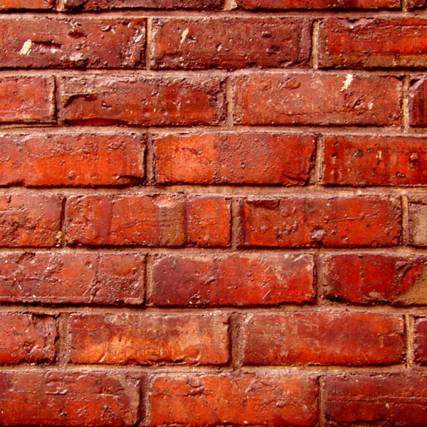 Bright Red Brick - papier 30.5 x 30.5 centimeter
