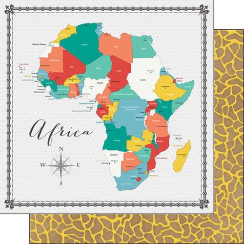 Africa - Memories Map papier - 30.5x30.5 cm