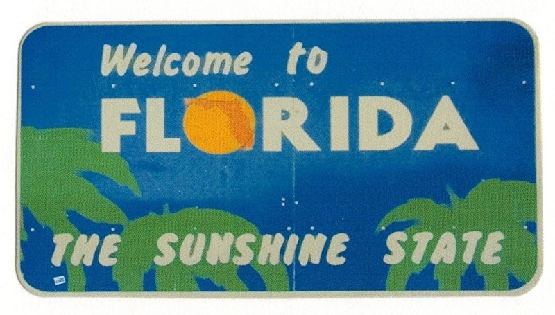 Welcome to Florida - the paper house die cuts - 8x5 cm