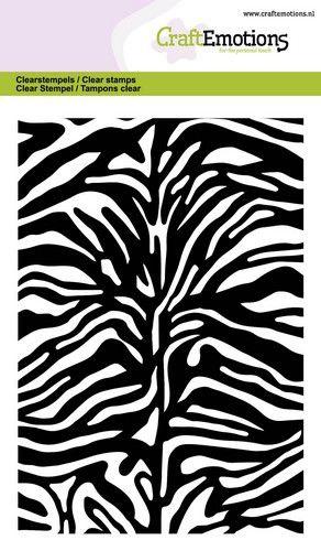 hobby en creatief stempels Tijger Zebra print  A6 Clearstempels