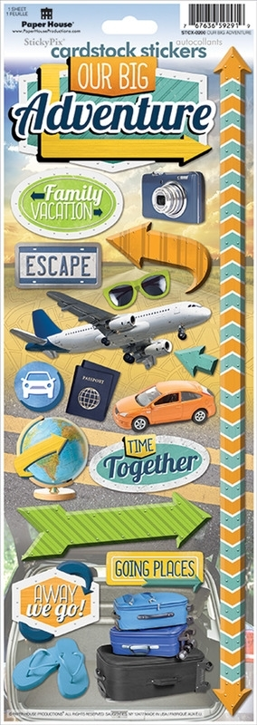 Cardstock stickers - Our Big Adventure