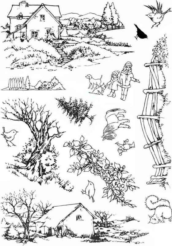 Country Ways - A5 clear stempel set 15 x 20 cm