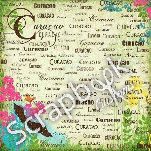 Curacao - 12 x 12 scrapbookpapier - Paradise