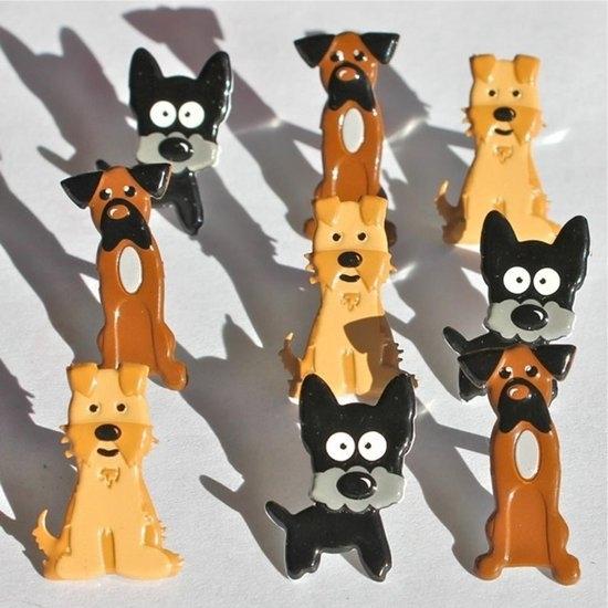 Puppys 3 rassen 12 stuks hobby splitpennen