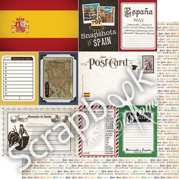 Spain - scrapbook Journal papier 12x12 inch