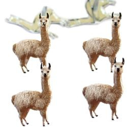 Lama's  splitpen decoratie - zakje 12 stuks