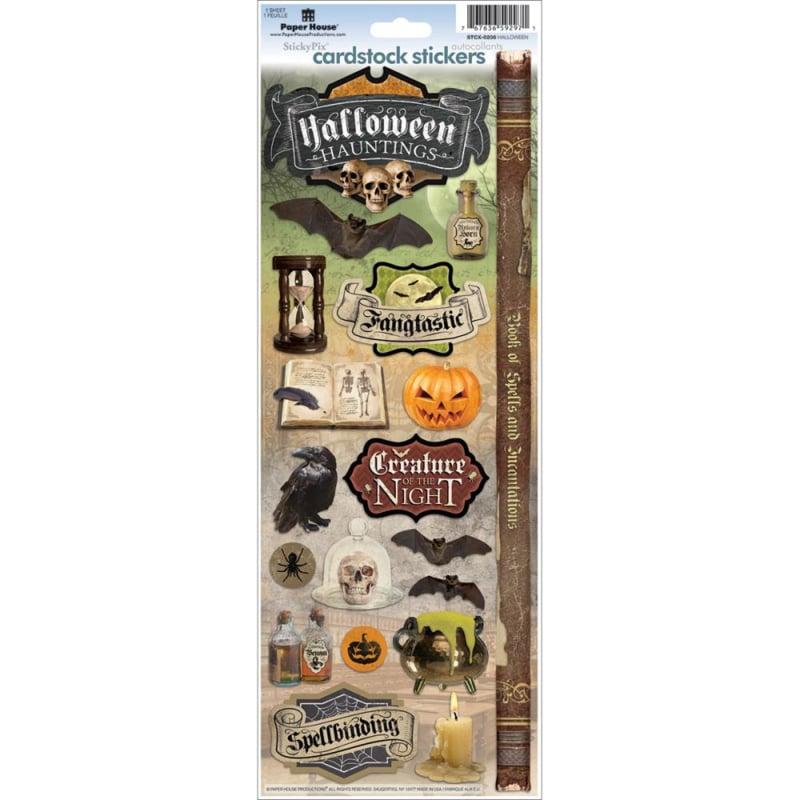 Cardstock Stickers Halloween Hauntings
