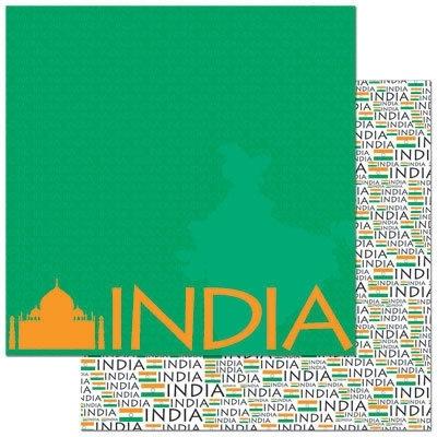 India scrapbbook vel 30.5 x 30.5 cm