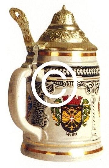 Bierpul Wenen - stans decoratie - 5x8.5 cm