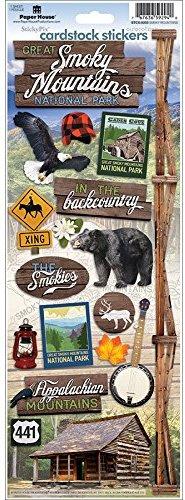 Foto scrapbook stickers - Smoky Mountains