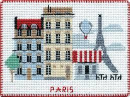 Paris - Borduurpakket 10 x8 cm