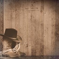 Western hoed- laarzen -lasso papier 30.5 x 30.5 cm
