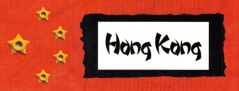 Hong Kong title tag - karton 5 x 13,5 cm