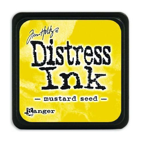 Mini  Distress inkt - Mustard Seed - waterbased dye ink / inkt op waterbasis - 3x3 cm