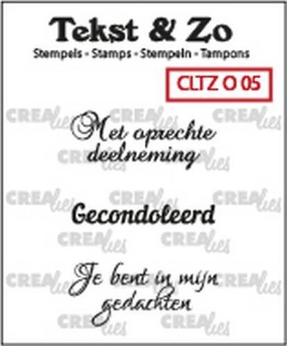 Crealies Tekst & Zo clear stamp - Overlijden 05 (NL)