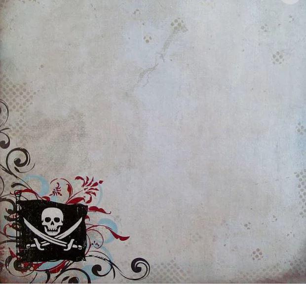 Pirate Life met doodskop - papier 12 inch